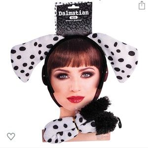 Dalmatian dog ears and tail set